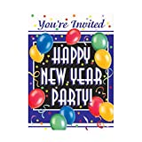 New Years Blast Party Invitations, 8ct