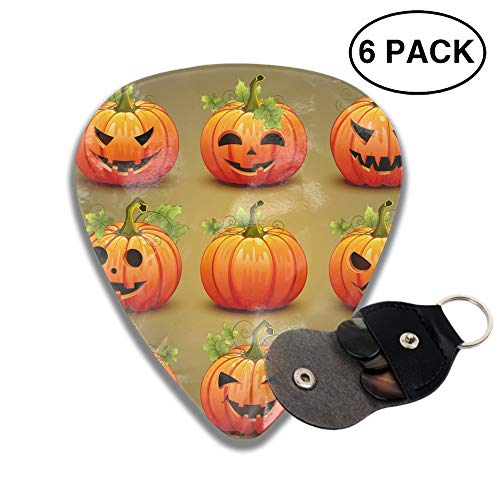 Set Of Pumpkins For Halloween 3D Color Printed Guitar and Bass Pick Gift Copper ()