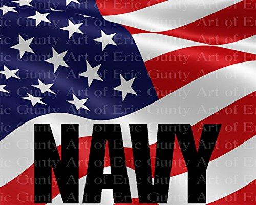 Navy Military Flag Birthday ~ Frosting Sheet Cake Topper ~ Edible ~ D21926