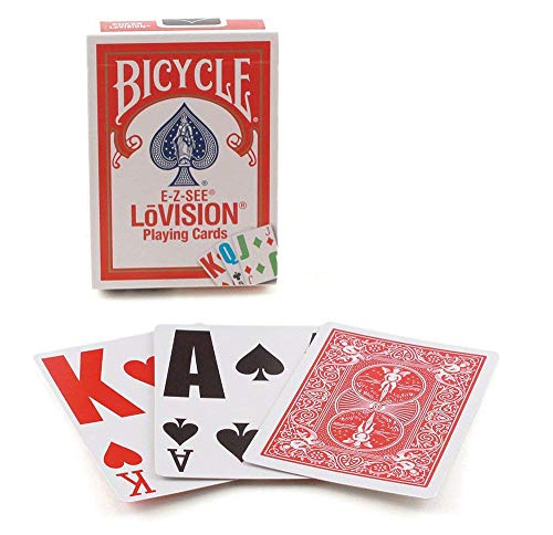 Bicycle E-Z See/Lo- Vision Playing Card Deck (Computer Games For The Blind And Visually Impaired)