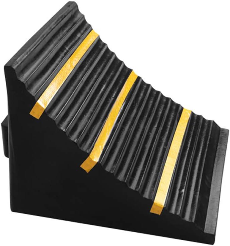 SZQ-Rampas Dispositivo de fijación de la rueda del camión, Bloqueador de goma del coche grande del taller del taller de reparación del coche de las rampas del bordillo al aire libre Almohadilla de ram