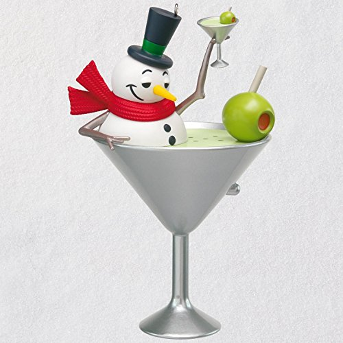 Hallmark Keepsake Christmas Ornament 2018 Year Dated, I Feel Good Snowman Martini With Music