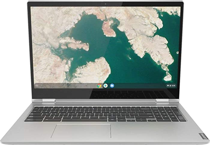 "New 2020 Lenovo - C340-15 2-in-1 15.6"" Touch-Screen Full HD 1920x1080 Chromebook Intel Pentium Gold 4GB Memory 64GB eMMC Flash 