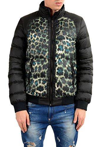 Just Cavalli Men's Animal Print Full Zip Down Parka Jacket US S IT 48