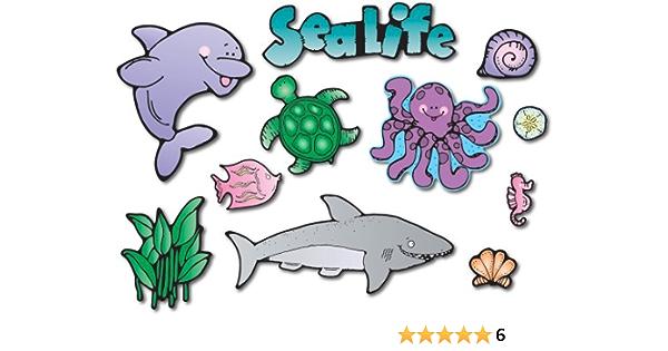 2 Rolls of 100 Classroom Teacher Motivation 200 Jumbo Under The SEA Stickers Octopus Starfish Crab Fish Sealife Ocean Rewards Party Favors