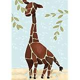 Oopsy Daisy Gillespie The Giraffe Blue by Meghann O'Hara Canvas Wall Art, 10 by 14-Inch