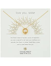 """Dogeared Love You, Sister, Together Knot Charm Chain Necklace, 16""""+2"""" Extender"""