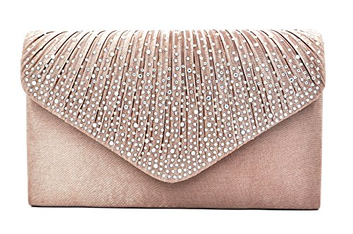 Bronze Bridal Envelope Women Handbag Nodykka Clutch Frosted Evening Rhinestone Purse Party q6xx0gv