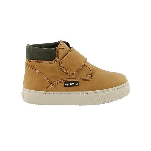 Zapatillas Victoria 25056 - Bota de Montaña de Piel Ocre unisex ni?os, color ocre, talla 30: Amazon.es: Zapatos y complementos