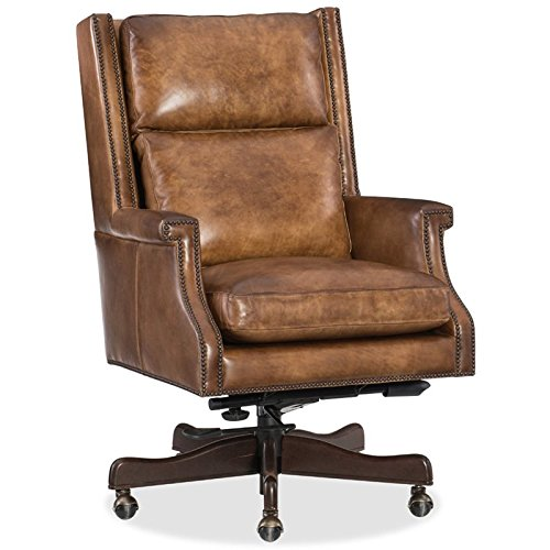 Hooker Furniture Beckett Leather Home Office Chair in Checkmate Pawn