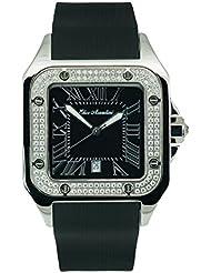 Elico Assoulini SM76057 Piazza Grand w/Black Rubber Band & Swarovski Crystals