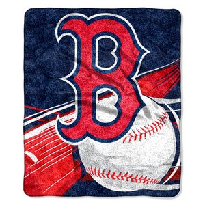 MLB Boston Red Sox Big Stick Sherpa on Sherpa Throw, 50