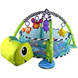Baby Bucket Baby Play Gym Mat Grow With Me 3 in 1 Baby Activity Gym Play Mat & Ball Pit with Mesh Sides (Green)