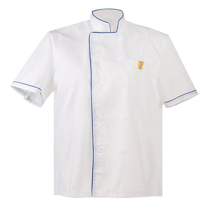Baosity Donna Uomo Giacche da Chef Cuoco Giacca Cappotto Top Uniformi da  Lavoro Ristorazione  Amazon.it  Abbigliamento 52c307a1ec48