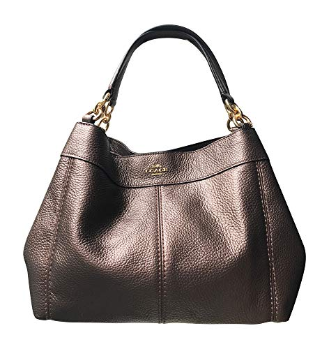 Coach Pebbled Leather Small Lexy Shoulder Bag Handbag (Metallic ()