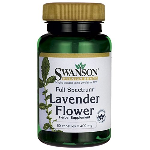 Swanson Full Spectrum Lavender Flower 400 Milligrams 60 Capsules