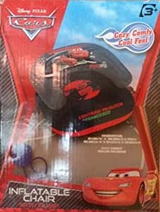 Disney/Pixar Lightning Mcqueen Cars Inflatable Chair with Pump