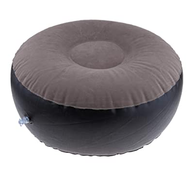 Inflatable Stool Ottoman, Portable Air Inflating Chair Seat for Camping Hiking Travel Fishing Outdoors Indoors : Garden & Outdoor