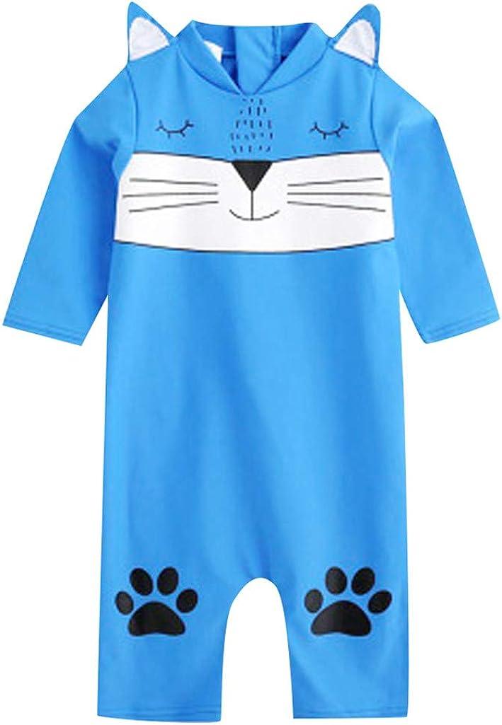 LiLiMeng Kid Baby Girl Boy 3D Cartoon Long Sleeve One Piece Beach Swimwear Swimsuit Bathing Clothes