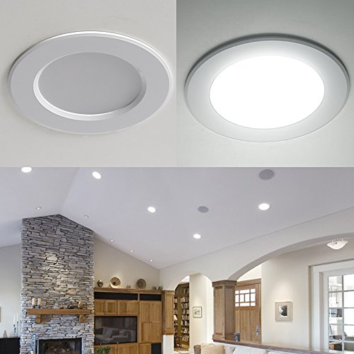 LE 4 Pack 8W 3.5-Inch LED Recessed Lighting, 75W Halogen