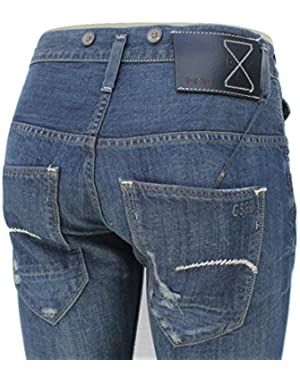 G Star Essentials RE Morris Tapered Jeans in 3D Aged Conn Denim, W36/L34 $399