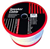 monster speaker wire 16 gauge - Monster Cable SFLM-500 SuperFlat Mini Navajo White Easy-to-Hide Speaker Cable 16 Gauge 500-Feet Spool (Discontinued by Manufacturer)