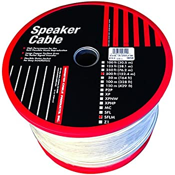 Monster Cable SFLM-500 SuperFlat Mini Navajo White Easy-to-Hide Speaker Cable 16 Gauge 500-Feet Spool (Discontinued by Manufacturer)