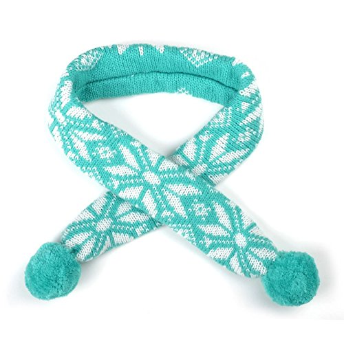 The Worthy Dog Ski Lodge Scarf for Your Pet Dog or Cat, Teal, XS