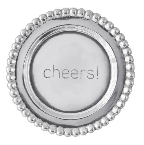 Mariposa Beaded Wine Plate,