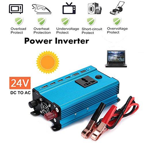 DC 24V zu 220V AC Adapter f/ür Handy-Laptop-Haushaltsger/äte 3000W KFZ-Wechselrichter Leaftree