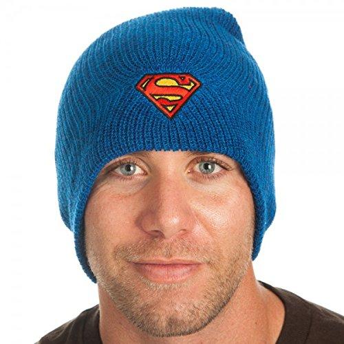 1ec6723fa64 Beanie Cap - DC Comics - Superman - Marled Slouch New Licensed kc0w4lspm   Amazon.co.uk  Clothing