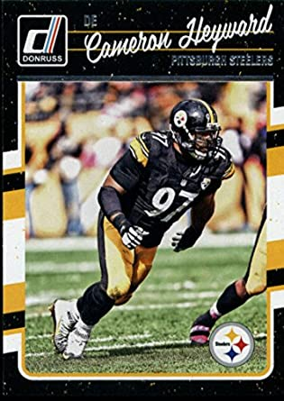 33c1dd0d2 Amazon.com  Football NFL 2016 Donruss  240 Cameron Heyward Steelers ...