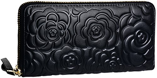 Womens Leather Wallets Zippered Handbag