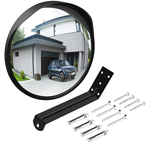 """Adjustable Convex Mirror Clear View Garage And Driveway Park Assistant 12/"""" C"""