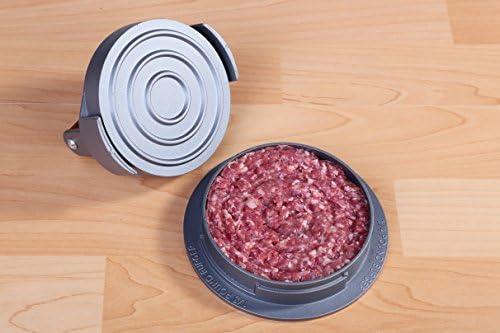 Garant/ía de por vida BetterDays 3 en 1 Prensa de hamburguesas y molde para hacer hamburguesas de aluminio antiadherente /¡Con dise/ño atractivo y resistente