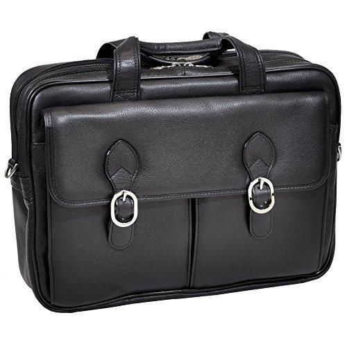 mckleinusa-hyde-park-15735-black-double-compartment-laptop-case