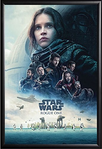 Star Wars Rogue One Movie Poster Framed (Black)