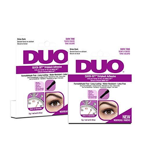 Duo Lash Adhesive - Duo Quick-Set False Strip Lash Adhesive Dark, Dries Dark 0.18 oz x 2 pack