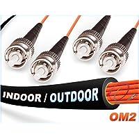 OM2 ST ST Indoor/Outdoor Duplex Fiber Patch Cables 50/125 Multimode - 45 Meter