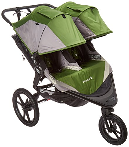 Jogger Triple Baby Stroller - Baby Jogger 2016 Summit X3 Double Jogging Stroller - Green/Gray
