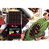 Chocolate negro ecológico sin azúcar. Cacao puro 100% 100 gr. Producto ecológico