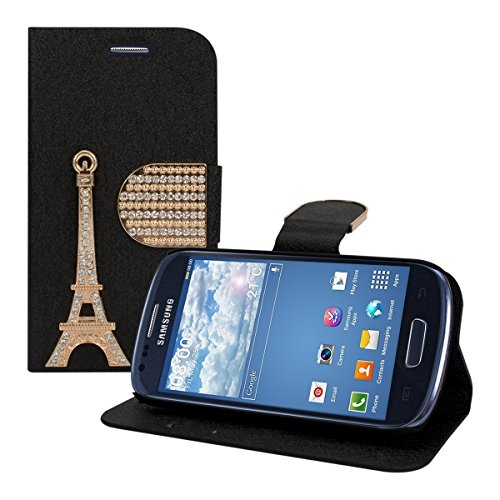 kwmobile Chic synthetic leather wallet case in black