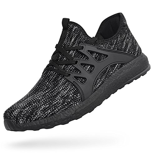 Grey Shoes Gym Mesh Breathable Feetmat Lightweight Sneakers Casual Black Men's WCwqxFT80U