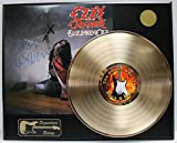 OZZY OSBOURNE GOLD LP LTD EDITION REPRODUCTION SIGNATURE RECORD DISPLAY