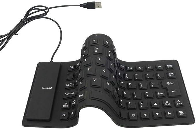 axGear Waterproof Silicone Keyboard Foldable Flexible USB Mini Dustproof Dirt Proof