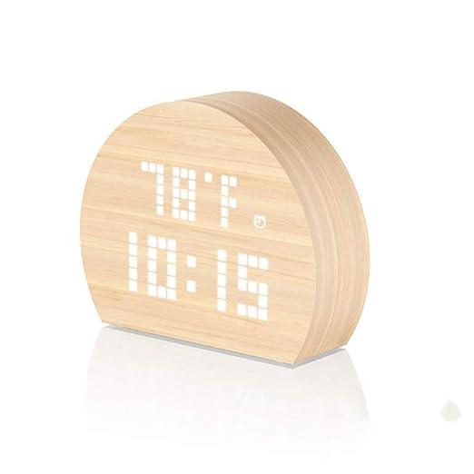Despertador Digital Mini despertador silencioso redondo de madera ...