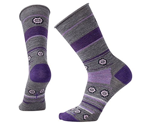 Smartwool Women's Dazed Dandelion Crew Socks (Medium Gray Heather) Small