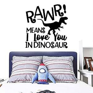 HNXDP Dinosaurio colorido Rawr Vinilo Cocina Pegatinas de ...