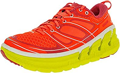 Hoka One One Womens Conquest 2 W Neon Coral/Citrus Ankle-High Synthetic Running Shoe - 5M