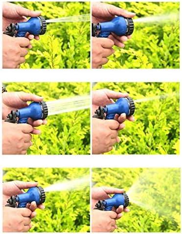 MY1MEY Magic hose Garden Hose, Flexible Magic Hose, Leak Proof, Light Weight, 7 Function Spray Gun 3x Expandable Watering Hose, Blue Telescopic hose
